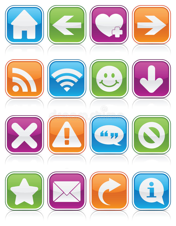 Grands dos lustrés de symbole de Web illustration libre de droits