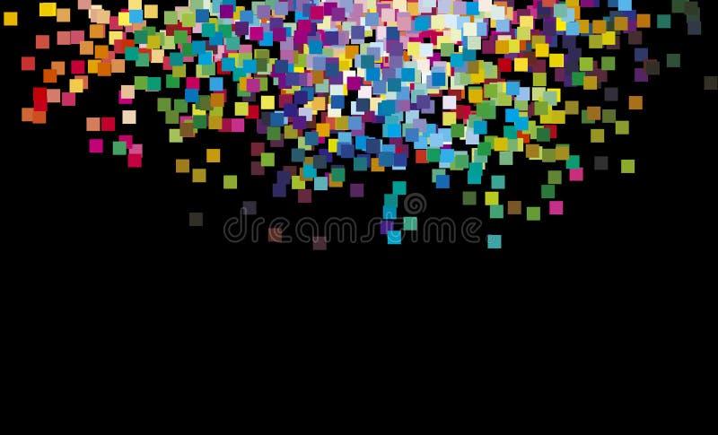 grands dos multicolores d'arc-en-ciel illustration de vecteur