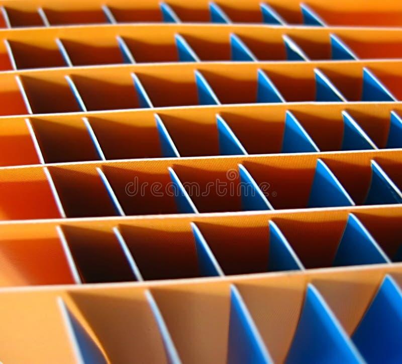Grands dos oranges et bleus image stock