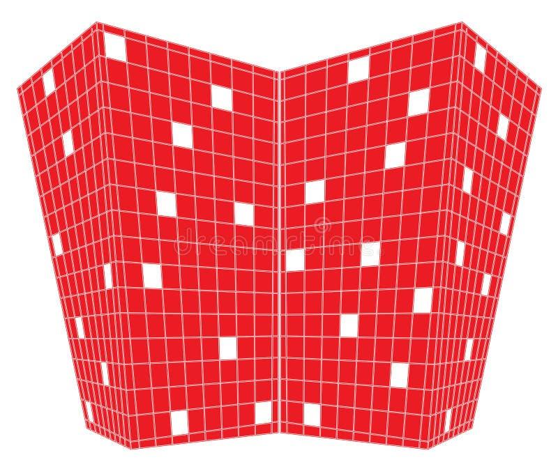 grands dos rouges de point de vue de conception illustration libre de droits