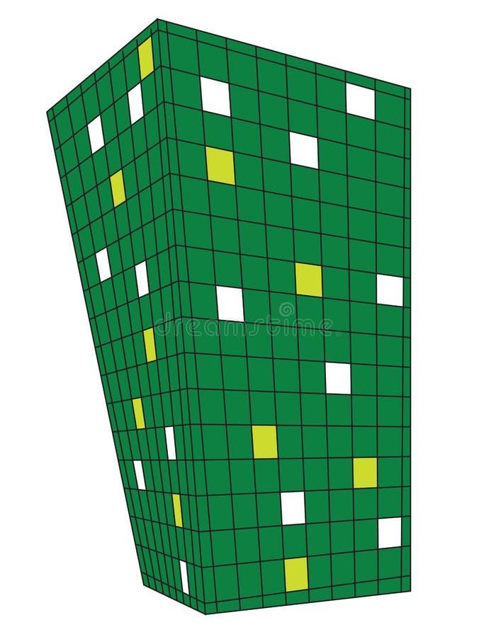 grands dos verts de point de vue de conception illustration libre de droits