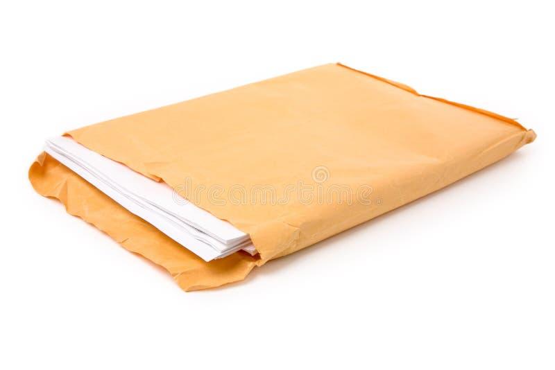 Grands enveloppe et document photographie stock
