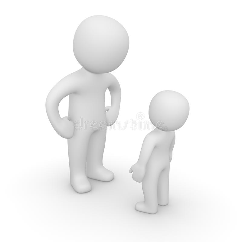 Grands et petits peuples 3d illustration de vecteur