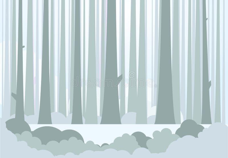 Grands forêt et pré illustration libre de droits