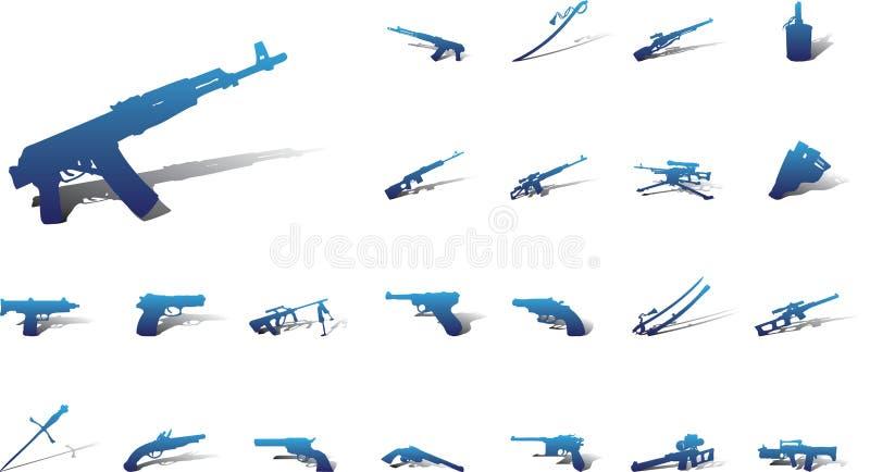 Grands graphismes de positionnement - 9A. Arme illustration stock