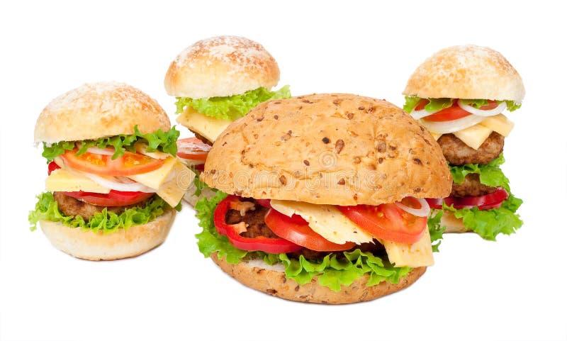 Grands hamburgers image libre de droits