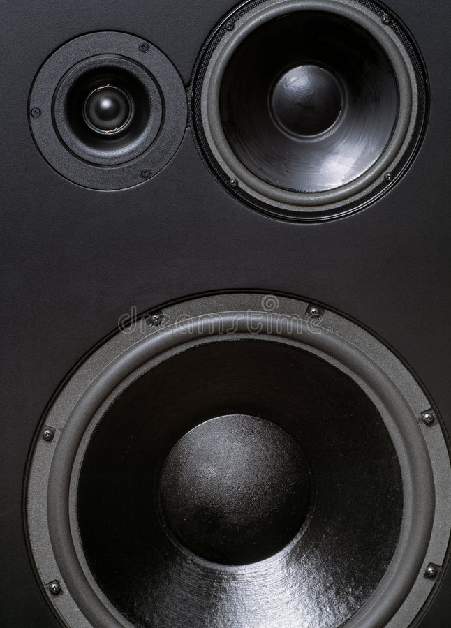 Grands haut-parleurs de studio images stock