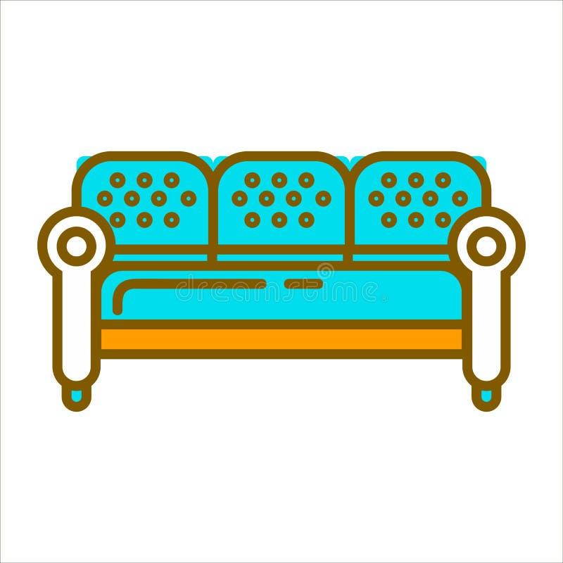 Grands meubles bleus illustration de vecteur