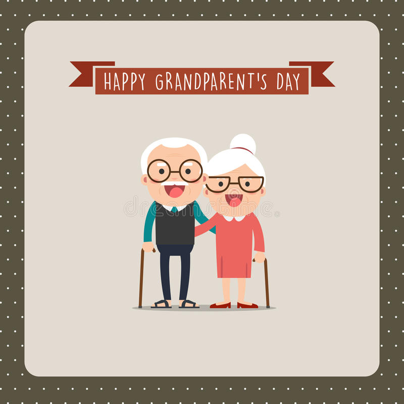 Grands-parents et petits-enfants illustration stock