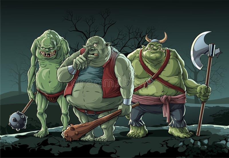 Grands trolls illustration libre de droits