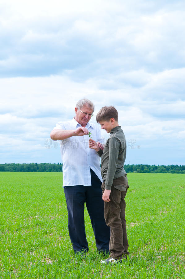 Download Grandson And Grandfather Royalty Free Stock Photography - Image: 14620787
