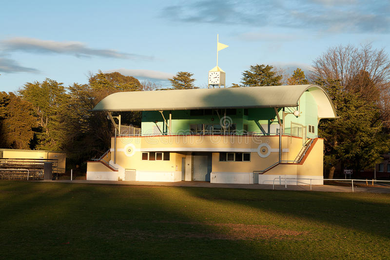 Grandstand. Lovely old grandstand at Australian football oval royalty free stock photo
