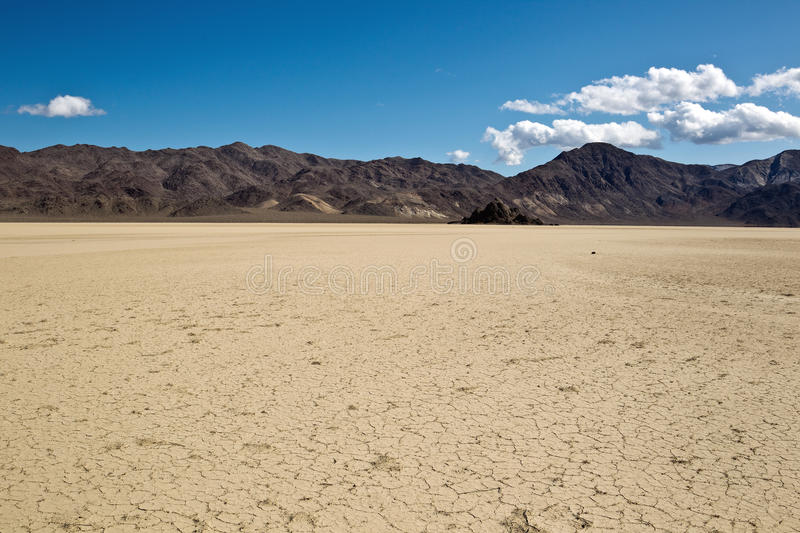 Grandstand and Racetrack Playa, Death Valley Natio. Nal Park, California. The Racetrack Playa, or The Racetrack, is a scenic dry lake feature with sailing stones stock image