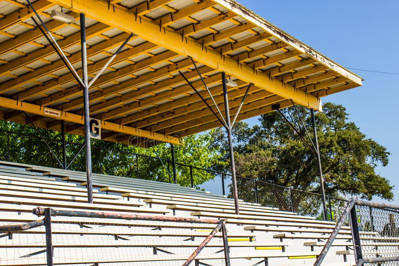 Grandstand Seats With Overhang. Grandstand Seats With Shady Overhang At Local County Fair royalty free stock image