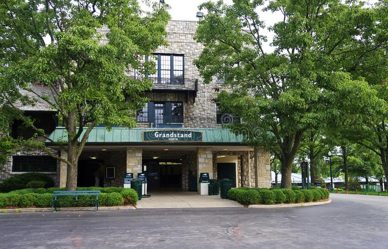 Grandstand South Entrance to Keeneland Rack Track royalty free stock image