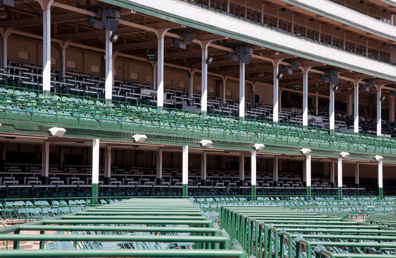 Grandstands at Churchill Downs. Seating at Chruchill Downs in Louisville, Kentucky stock images