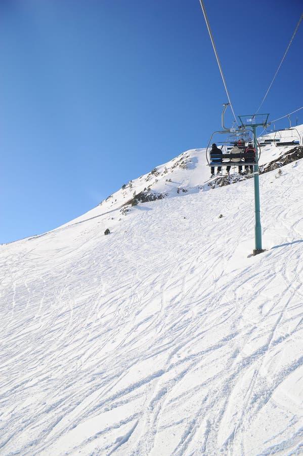Grandvalira, подъем лыжи, княжество Андорры, Европы стоковое фото