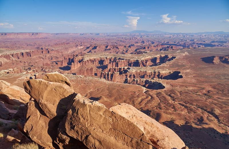 Grandview point in Canyonlands National Park stock photo