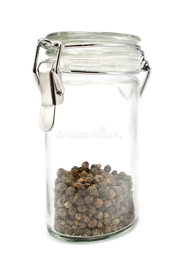 Download Granelli Di Pepe In Vaso Di Vetro Immagine Stock - Immagine di sapore, fragranza: 21550137