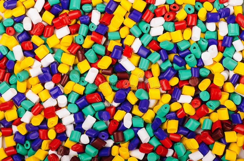 Granelli di plastica del polimero fotografia stock libera da diritti