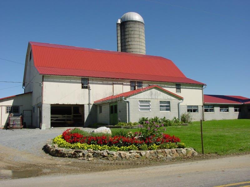 Granero de Amish fotos de archivo libres de regalías