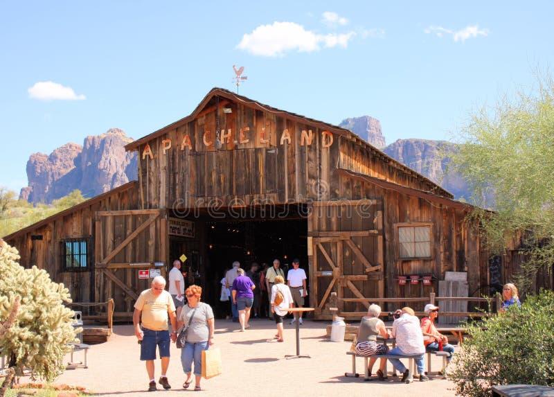 Granero de Apacheland en el museo de la montaña de la superstición fotografía de archivo