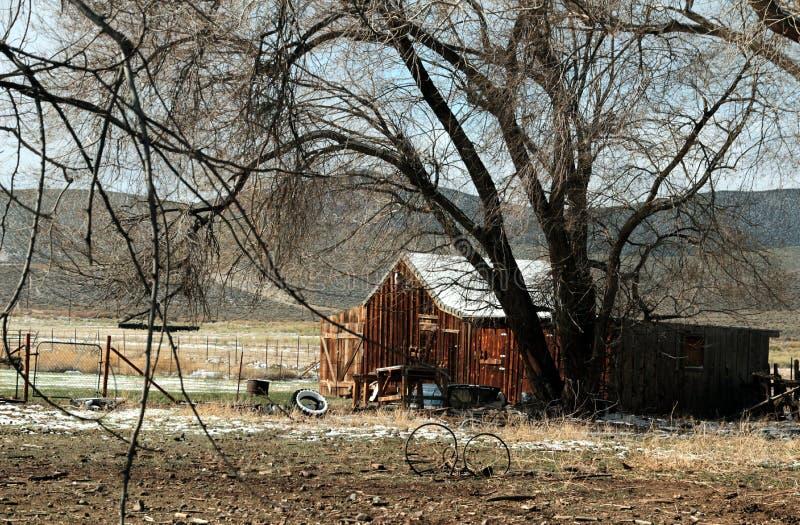 Granero, Utah meridional, carretera 89 de la primavera fotos de archivo libres de regalías
