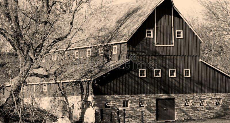 Granero viejo de Iowa fotos de archivo libres de regalías