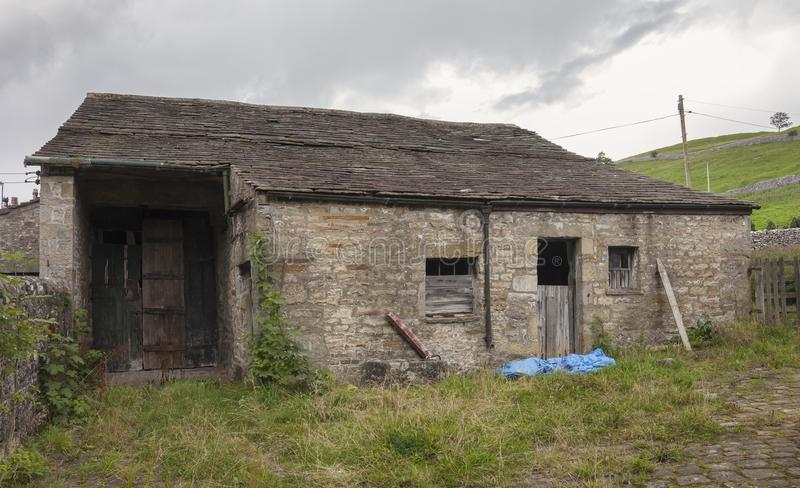 Granero viejo, Kettlewell, Yorkshire imagenes de archivo