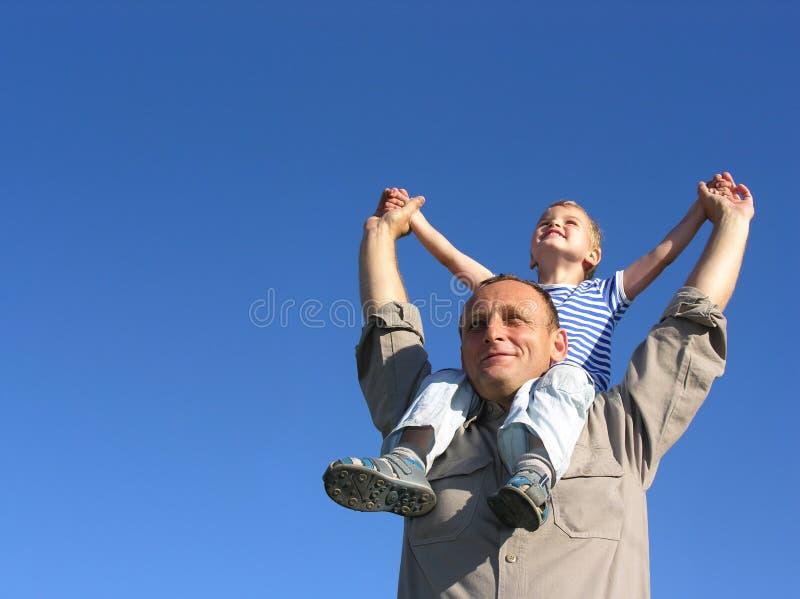 Granfather met kleinzoon royalty-vrije stock afbeelding