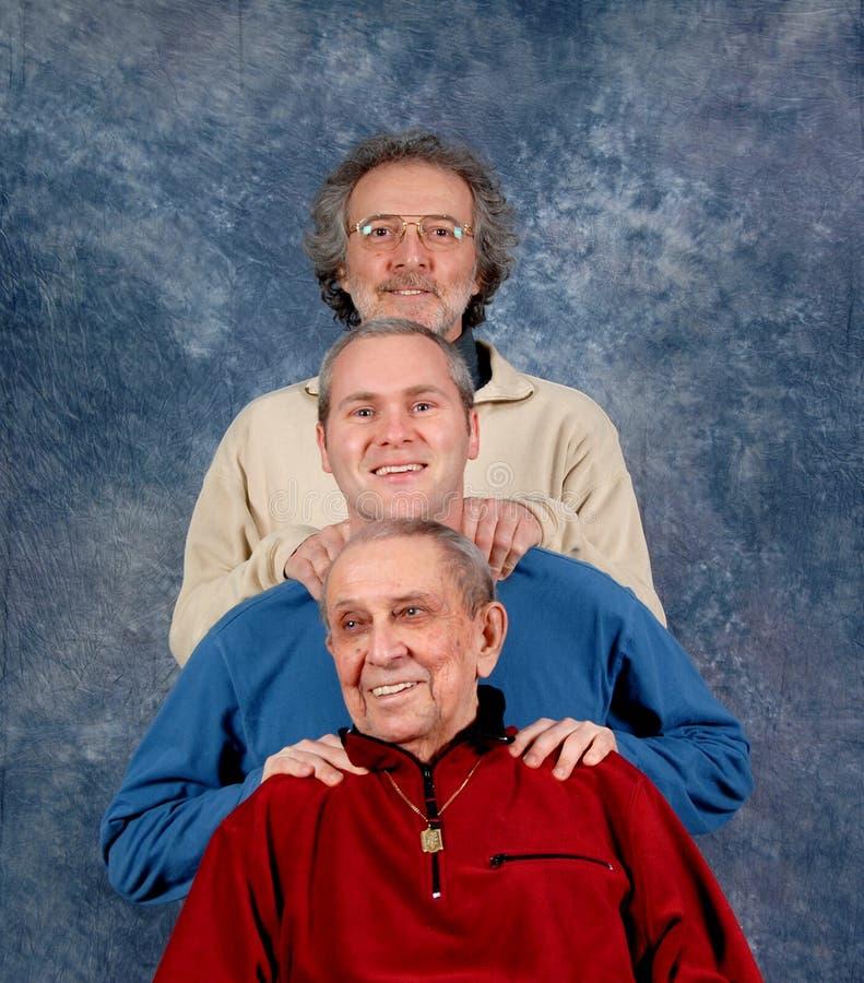Granfather, pai e filho foto de stock royalty free