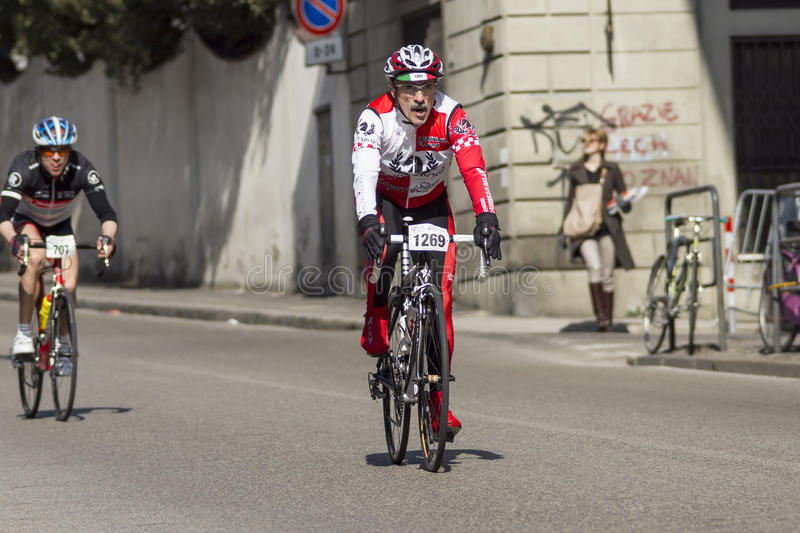 FLORENCE, ITALY - MARCH 2: Competitor during the Granfondo Firenze DeRosa race