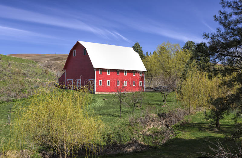 Grange à Washington oriental rural photographie stock