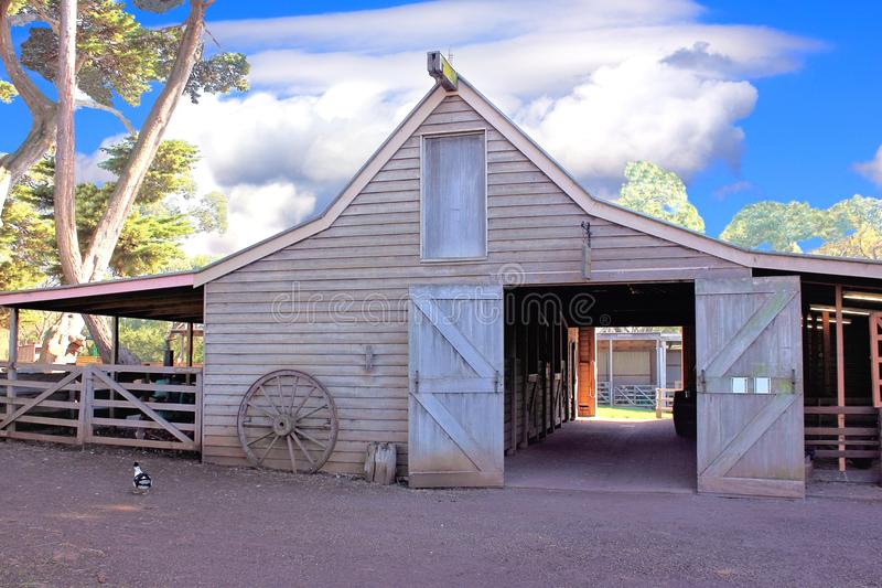 Grange australienne rustique image stock