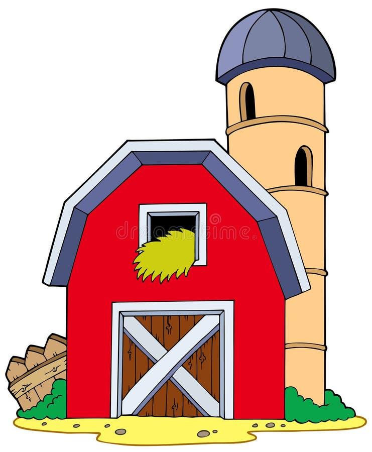 Grange avec le grenier illustration de vecteur