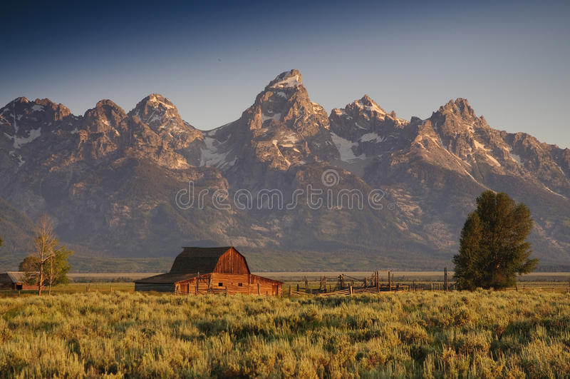 Grange célèbre sur la ligne mormone image stock