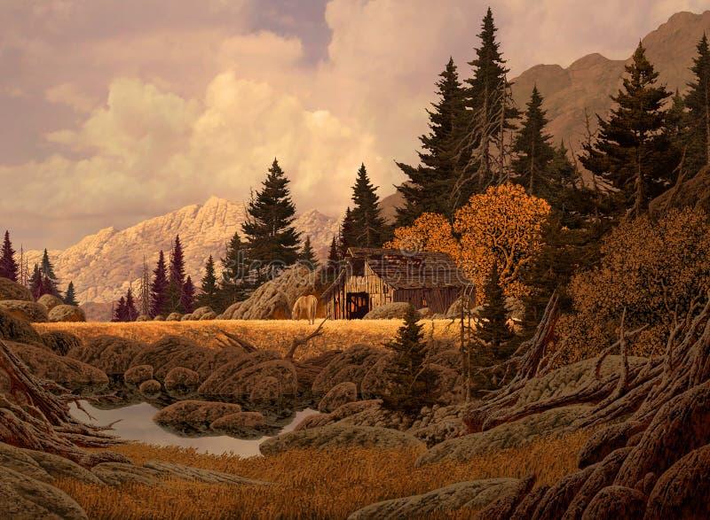Grange de montagne image libre de droits