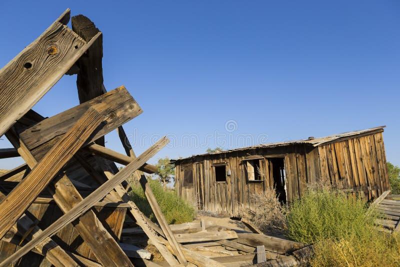 Grange de ranch et corail, Nevada photos stock