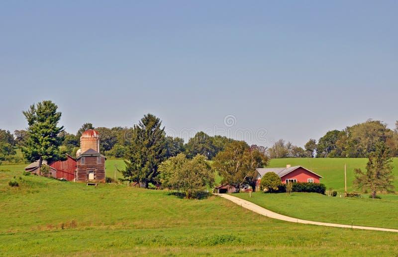 Grange près de Madison, le Wisconsin images libres de droits