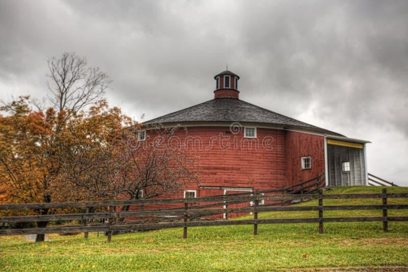 Grange ronde au musée de Shelburne, Vermont photos libres de droits