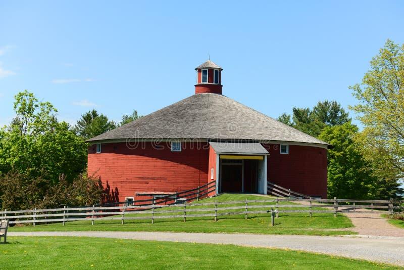 Grange ronde, Shelburne, Vermont, Etats-Unis image stock