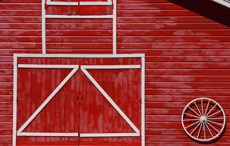 Grange rouge photographie stock