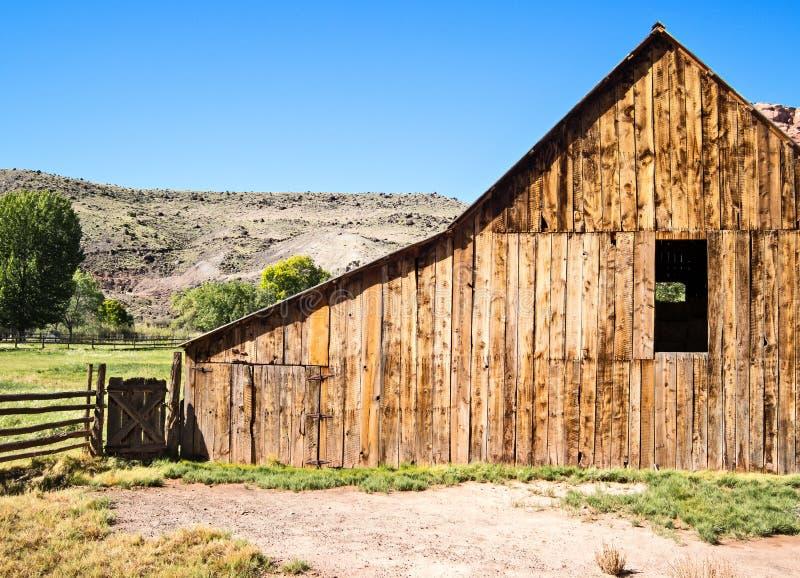 Grange superficielle par les agents, Fruita, Utah image libre de droits