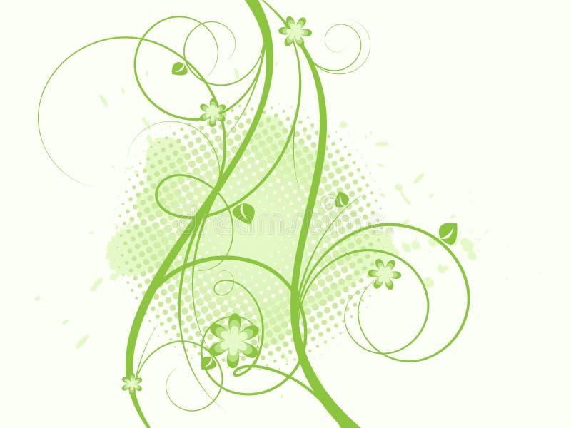 Grangy abstrakter mit Blumenvektor stock abbildung