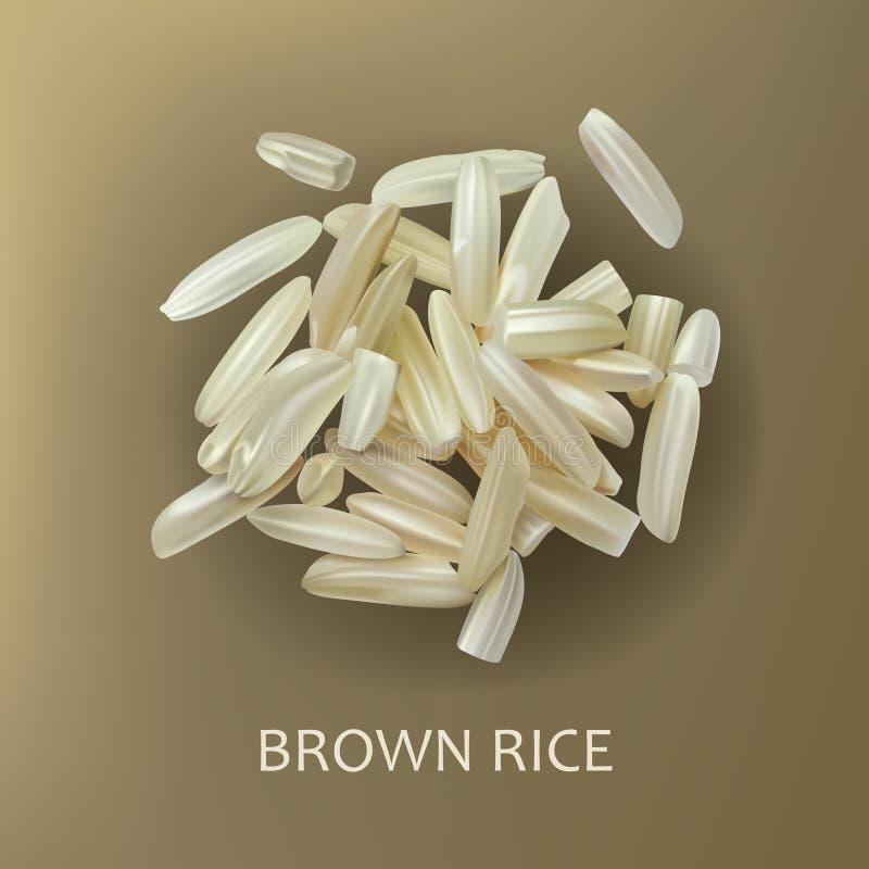 Grani di riso sbramato royalty illustrazione gratis
