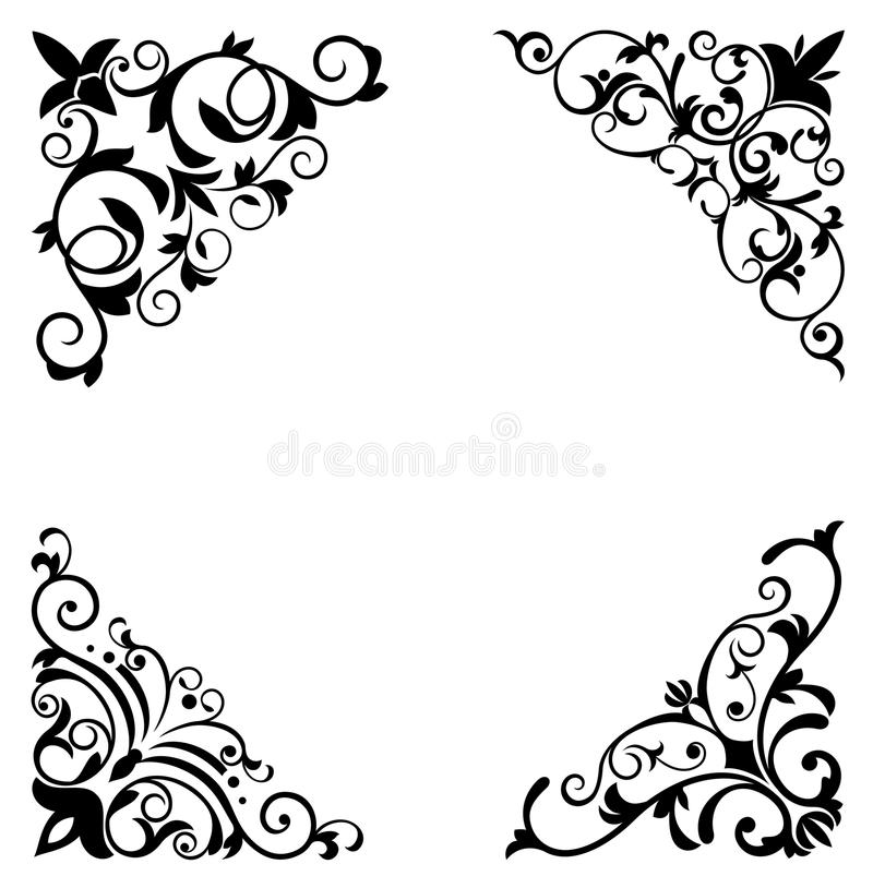 granic kwiatu wzory ilustracji