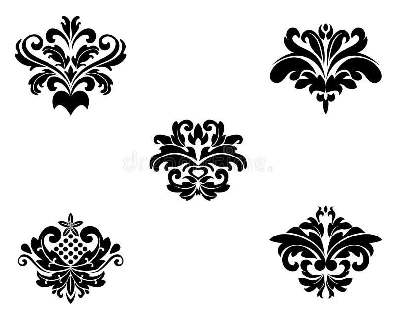 granic kwiatu wzory royalty ilustracja