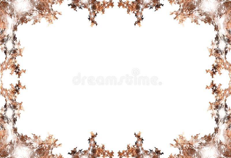 Granica - jesień liście zdjęcia stock