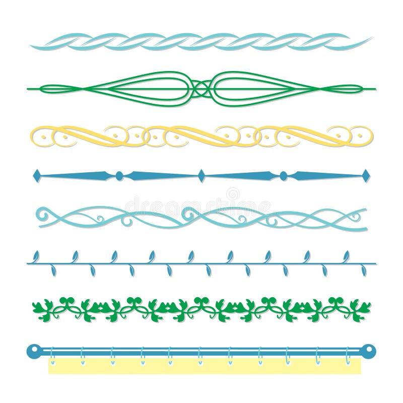 Granica monogramów linii set w rocznika stylu dla projekta wektoru ilustracji