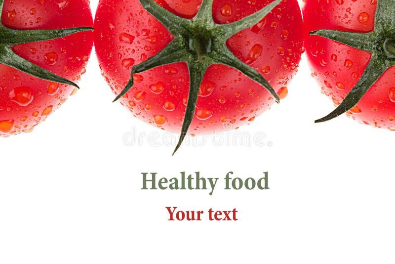 Granica pomidor na białym tle odosobniony Pomidoru wzór knedle tła jedzenie mięsa bardzo wiele Makro- fotografia stock